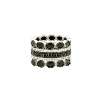 IF SS/ CZ/ 5 STACK RINGS SZ 7