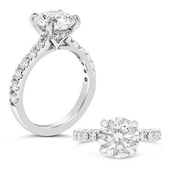Round center diamond ring