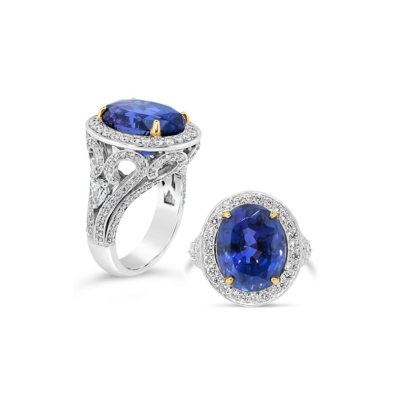 Aires Signature Collection sapphire and diamond ring