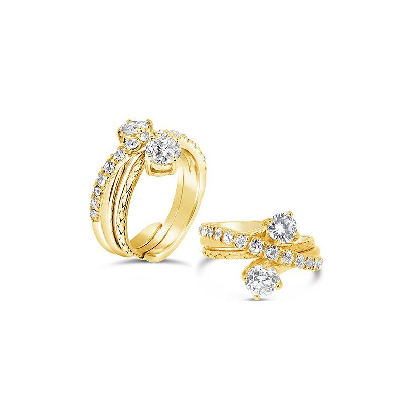 Aires Custom Fashion insert diamond ring