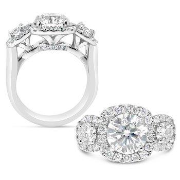 Round Three Stone ring