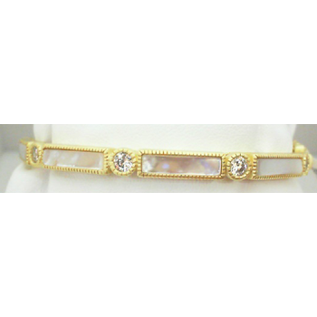 CT/ SS/ CZ/ MOP BAGUETTE BAR HINGE BANGLE