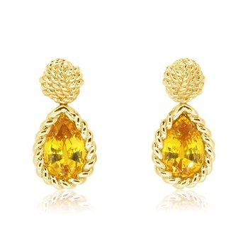 yellow sapphire drop earrings