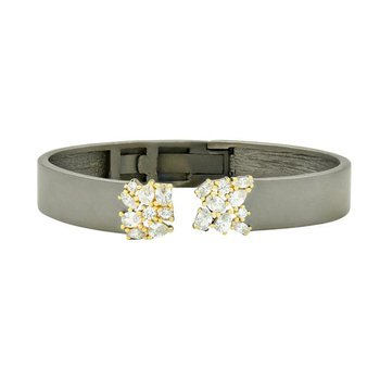MD SS/14KYP/CZ OPEN CUFF BANGLE