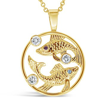 Pisces fish sign pendant