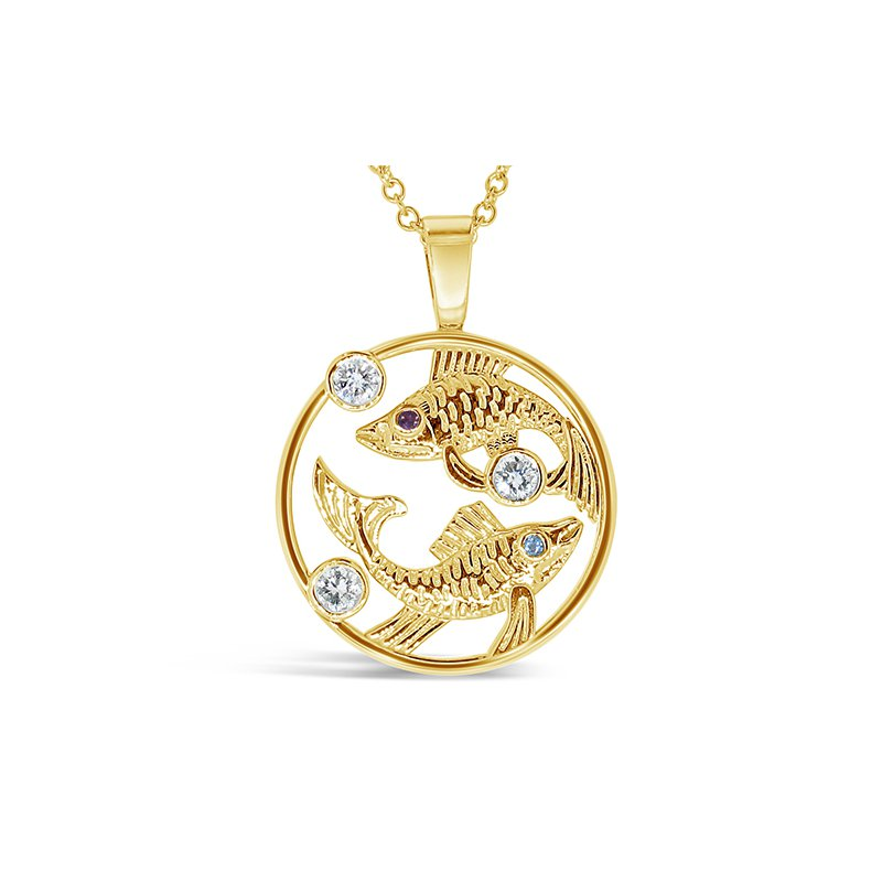 Aires Custom Fashion Pisces fish sign pendant