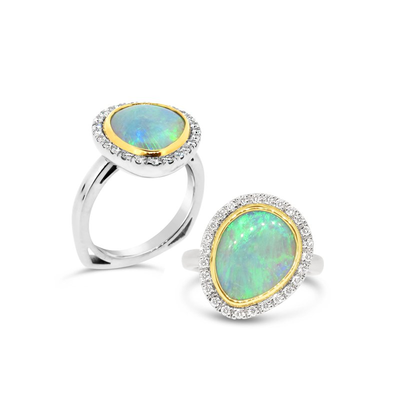 Aires Signature Collection Opal and Diamond ring