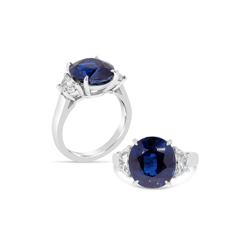 Aires Custom Fashion blue sapphire ring