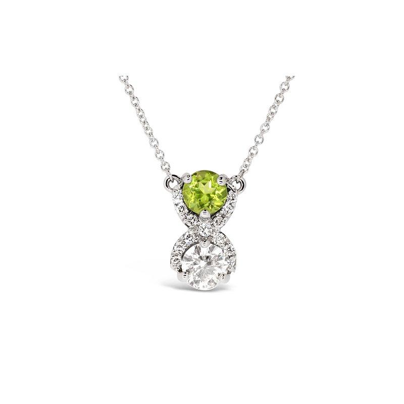 Aires Custom Fashion peridot and diamond pendant