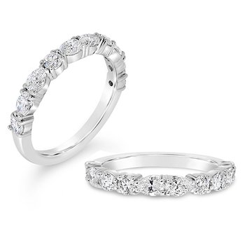 round and pear shaped diamond band