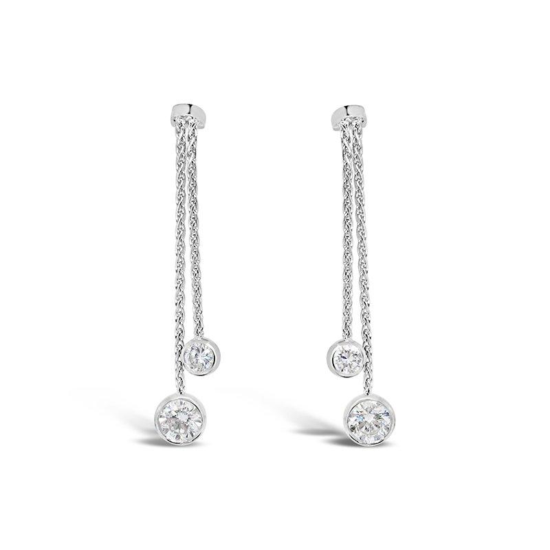 Aires Custom Fashion diamond drop earrings
