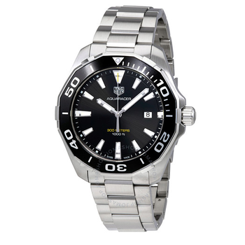 Aquaracer 300M Quartz Black Dial Men's Watch