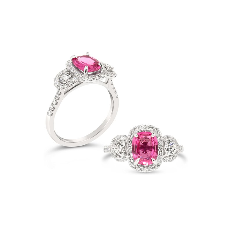 Aires Custom Fashion pink sapphire ring
