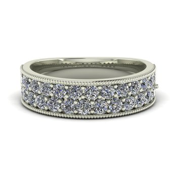 Ladies Two Row Diamond Band