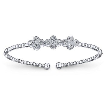 Beaded Diamond Bezels Bracelet