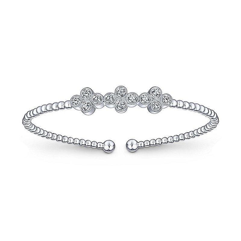 Beaded Diamond Bezels Bracelet