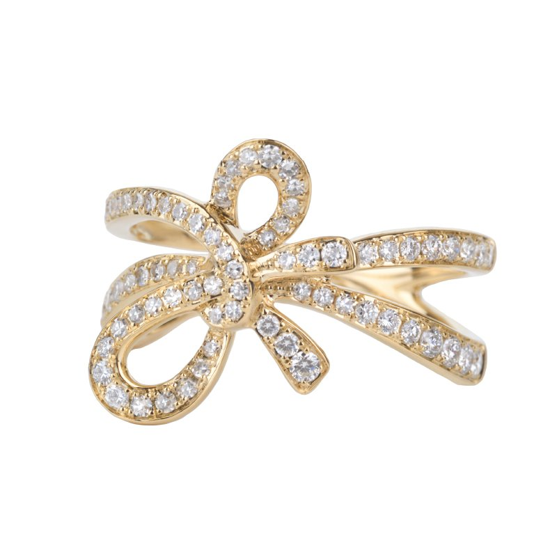 Diamond Accented Bow Ring