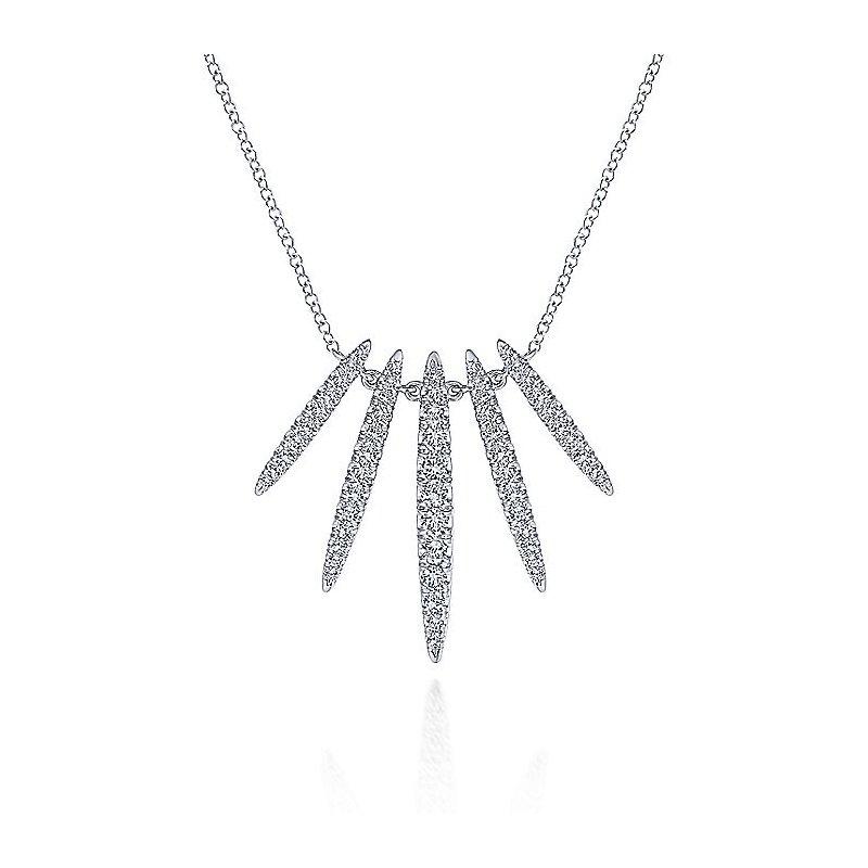 Diamond Fan Necklace