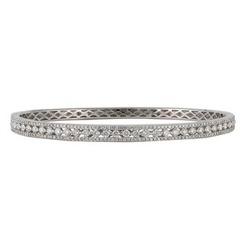3-Row Diamond Bangle