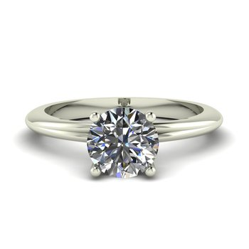 Ladies Diamond Collar Solitaire Setting