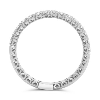 Diamond Band with Heart Detail