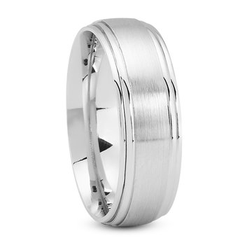 Men's Stepped Edge Wedding Band