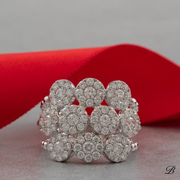Pave Diamond Circles Ring