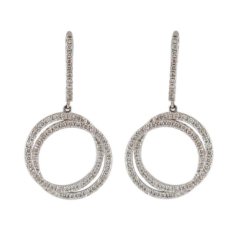 Diamond Circles Earrings