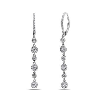 Diamond Stations Drop Earrings