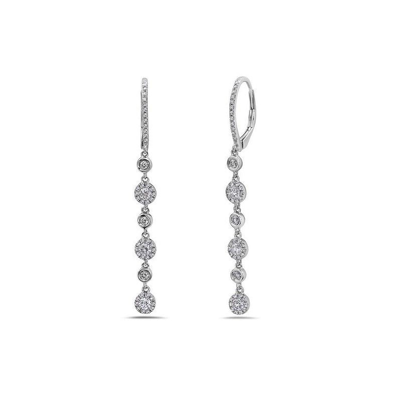 Diamond Stations Drop Earrings