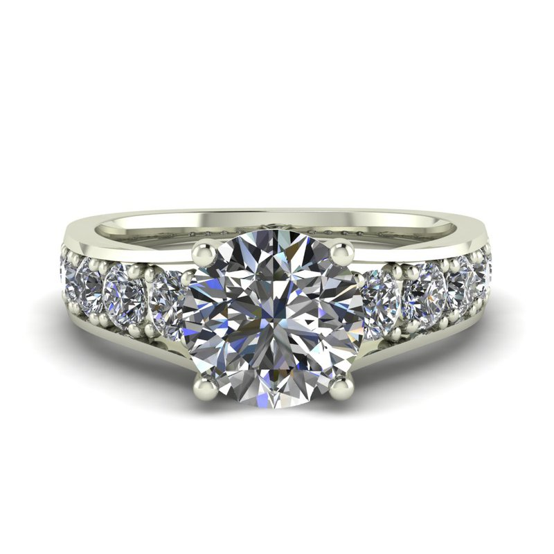 Ladies Flared Diamond Setting