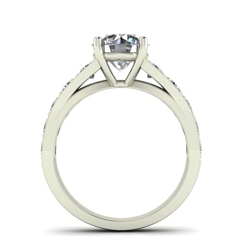 Ladies Flared Diamond Setting