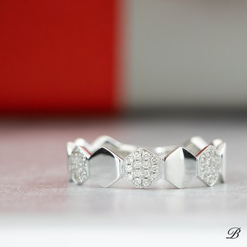 Pave Hexagons Ring