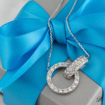 Interlocking Diamond Necklace