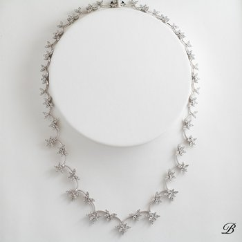 Diamond Clusters Necklace