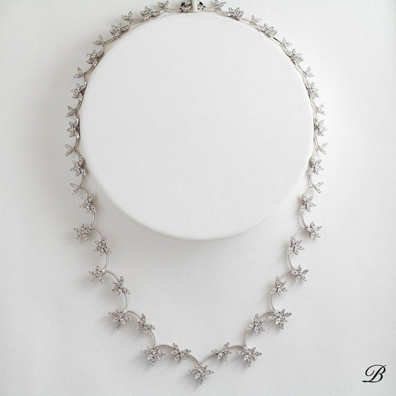 Diamond Clusters Necklace