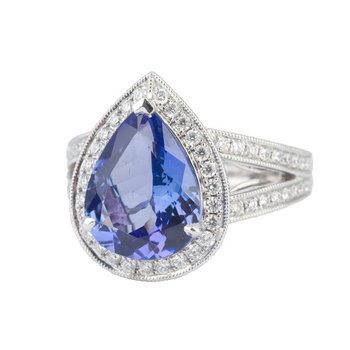 Pear Shape Tanzanite Ring