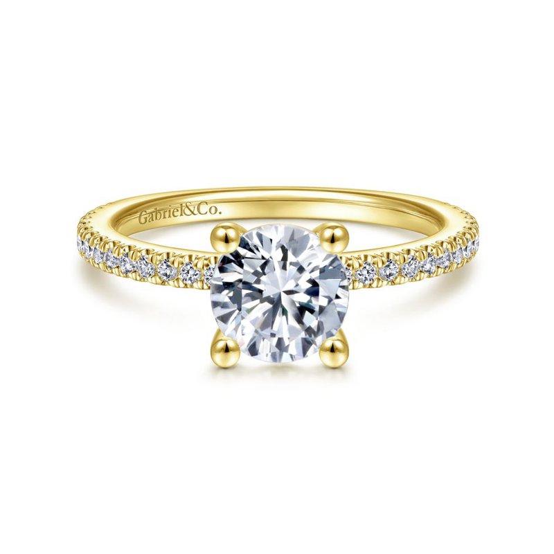 Gabriel Bridal 14K Yellow Gold Round Diamond Engagement Ring