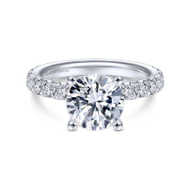 Gabriel Bridal 14K White Gold Round Diamond Engagement Ring