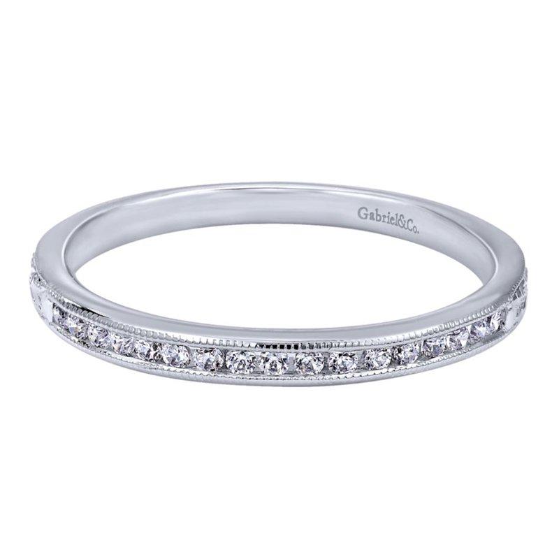 Gabriel Bridal 14K White Gold   Matching Wedding Band