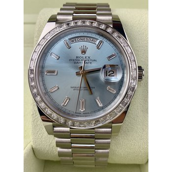 Rolex Platinum Day-Date 40-Like New Condition
