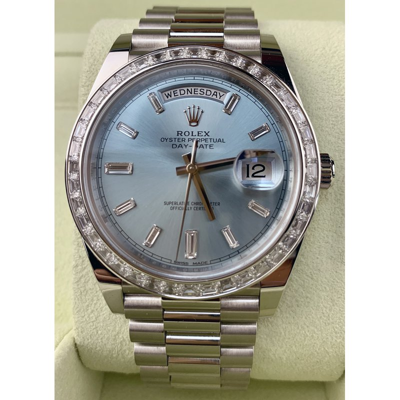 Pre-Owned Watches Rolex Platinum Day-Date 40-Like New Condition