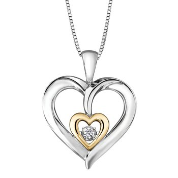 Ladies Heart Pulse Necklace