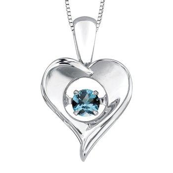 Blue Topaz Pulse Necklace