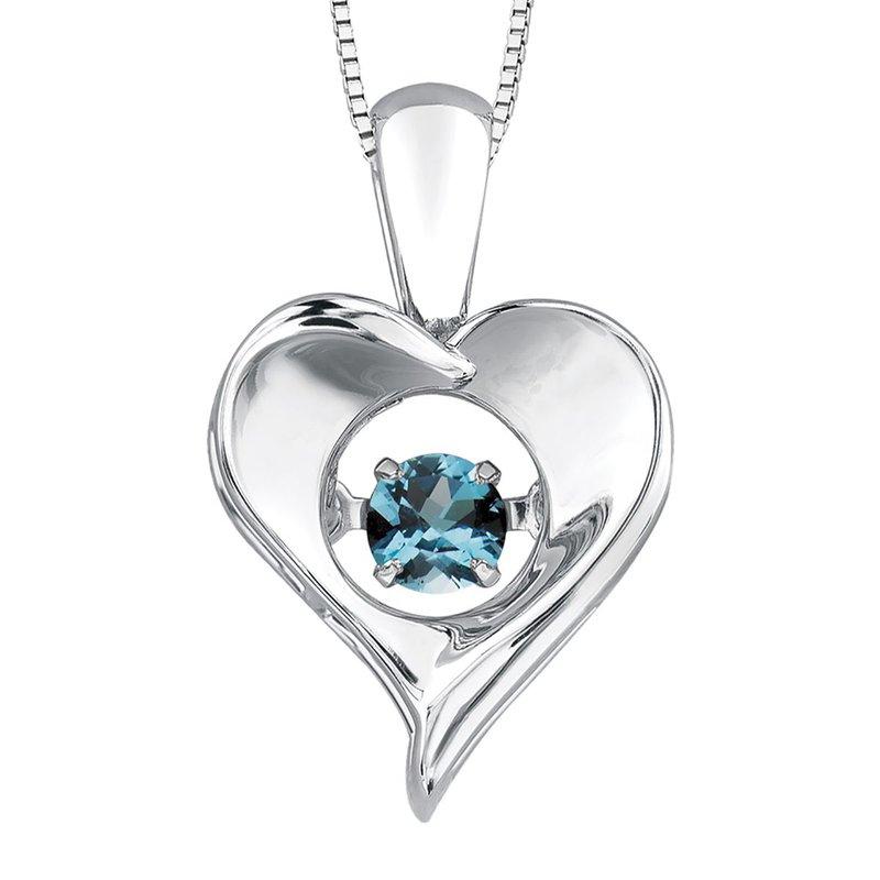Ashley Blue Topaz Pulse Necklace
