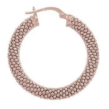 Silver & Rose Gold Plated Hoop Earrings