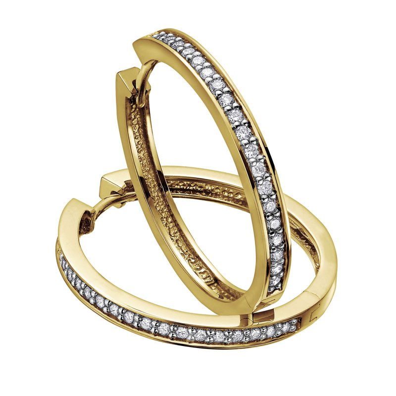 Ashley DIAMOND HOOP EARRINGS