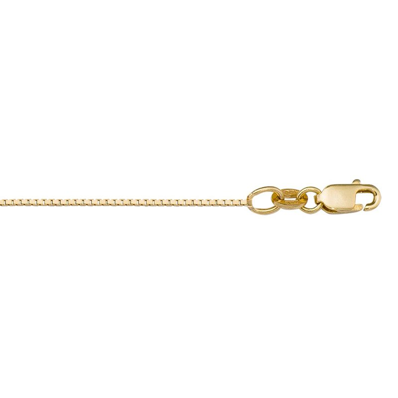 Ashley 0.8mm Box Chain In 10kt Gold - 16""