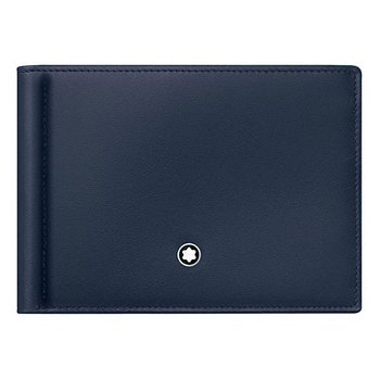 Meisterstuck Wallet with Money Clip Navy