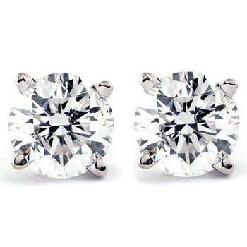 Estate Diamond Stud Earrings .35carat TW